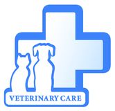 Vector geïsoleerd symbool met hond en kat Stock Foto's