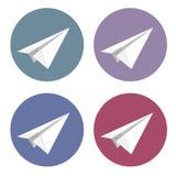 Vector geïsoleerde geplaatste vliegtuigpictogrammen Royalty-vrije Stock Fotografie
