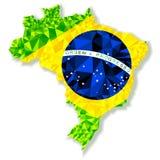 Vector geïsoleerde illustratie van Brazilië Royalty-vrije Stock Afbeelding