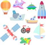 Vector geïsoleerde kunst voor spel vervoer Royalty-vrije Stock Afbeeldingen