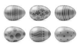 Vector geïsoleerde reeks realistische paaseieren Stock Afbeelding