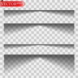 Vector geïsoleerde schaduwen stock illustratie