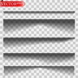 Vector geïsoleerde schaduwen royalty-vrije stock foto