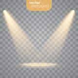 Vector Geïsoleerde Schijnwerper Royalty-vrije Stock Afbeeldingen