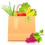 Vector geïsoleerdeo document zak met groenten vector illustratie