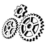 Vector gear. Gearing up for working business Stock Photo