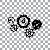 Gear cog wheel symbol. Vector gear cog wheel symbol Stock Images