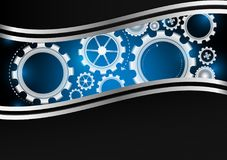 Vector gear with copy space abstract background.  Stock Images