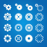 Vector gear icon set. Flat Design Royalty Free Stock Photography