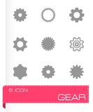 Vector gear icon set Royalty Free Stock Photography