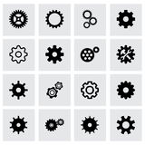 Vector gear icon set Stock Image