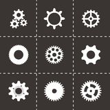 Vector gear  icons set Stock Images