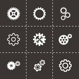 Vector gear icons set Royalty Free Stock Photo