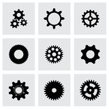 Vector gear  icons set Stock Image