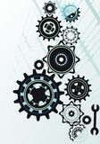 Vector gears collection stock illustration
