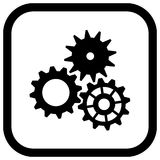 Vector Gears Icon Royalty Free Stock Photography