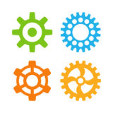 Vector gears icons set. Stock Photos