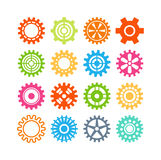 Vector gears icons set. Royalty Free Stock Photo
