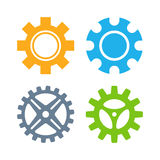 Vector gears icons set. Stock Image
