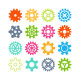 Vector gears icons set. Royalty Free Stock Image