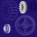 Vector gears Stock Images