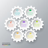 Vector gears for infographic. Stock Photo