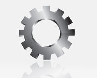 Vector gears, isolated object on white background Stock Images