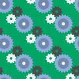 Vector gears seamless pattern background machine wheel mechanism technical Stock Image