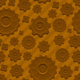 Vector gears seamless pattern. Vector yellow gears seamless pattern Royalty Free Stock Photo