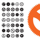 Vector Gears Set Royalty Free Stock Photography