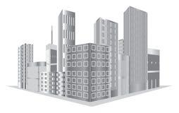 Vector gebouwen Royalty-vrije Stock Foto's