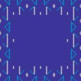 Vector gebreide achtergrond in blauwe en witte kleuren Royalty-vrije Stock Afbeeldingen