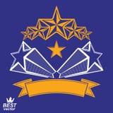 Vector gedetailleerd luxe 3d symbool Monarchembleem, celebrative st royalty-vrije illustratie
