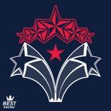 Vector gedetailleerd luxe 3d symbool Monarchembleem, celebrative st vector illustratie