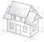 Vector gedetailleerd ontwerphuis Stock Foto's