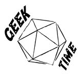 Vector Geek time illustration. Vector black and white Geek time illustration with twentysided dice Royalty Free Illustration