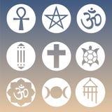 Vector Geestelijke Geplaatste Symbolen Royalty-vrije Stock Fotografie