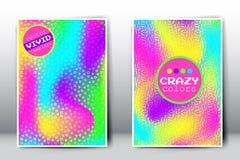 Vector gekke holografische gradiëntmalplaatjes Royalty-vrije Stock Afbeeldingen
