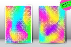 Vector gekke holografische gradiëntmalplaatjes Stock Afbeelding
