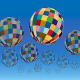 Vector gekleurde ballen Stock Foto