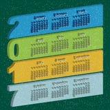 Vector gekleurde kalender 2017 Stock Illustratie