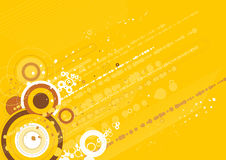 vector gele achtergrond Stock Afbeelding