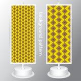Vector Gele en Witte reeks Geometrische Patronen Retro Mod.-Achtergrond Royalty-vrije Stock Fotografie