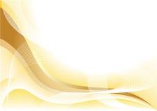Vector gele golfachtergrond Royalty-vrije Stock Afbeelding