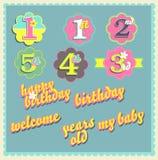 Vector gelukkig het ontwerpmalplaatje van de verjaardagskaart Stock Illustratie