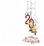 Vector Gelukkig Nieuwjaar 2014 Stock Afbeeldingen