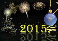 Vector Gelukkig Nieuwjaar Royalty-vrije Stock Foto
