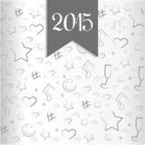Vector Gelukkig Nieuwjaar 2015 Stock Afbeeldingen