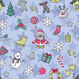Vector Gelukkig Nieuwjaar en Vrolijk Kerstmispatroon stock illustratie