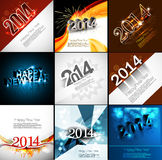 Vector Gelukkige de vakantiekaart van de Nieuwjaar mooie inzameling Stock Afbeelding
